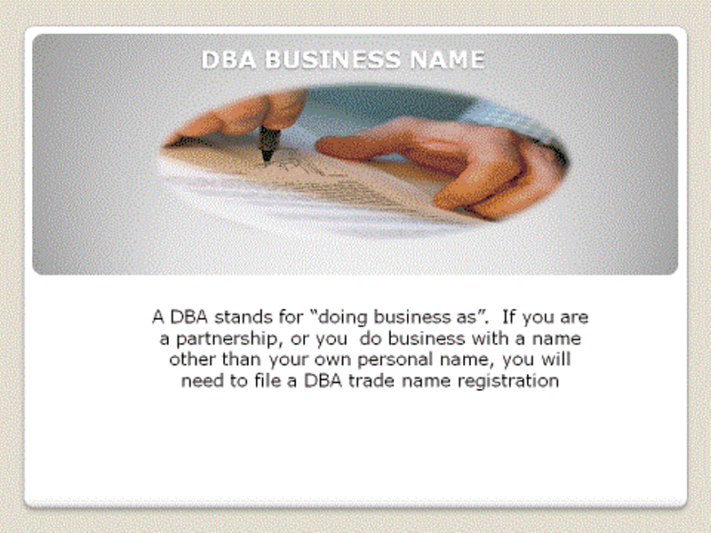 DBA (Doing Business As)